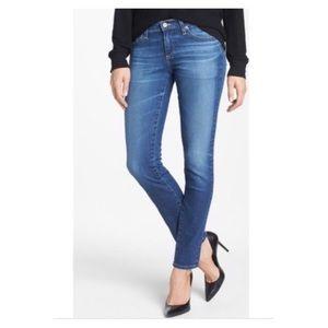 28R ~ AG The Stilt Cigarette Skinny Blue Jeans NWT